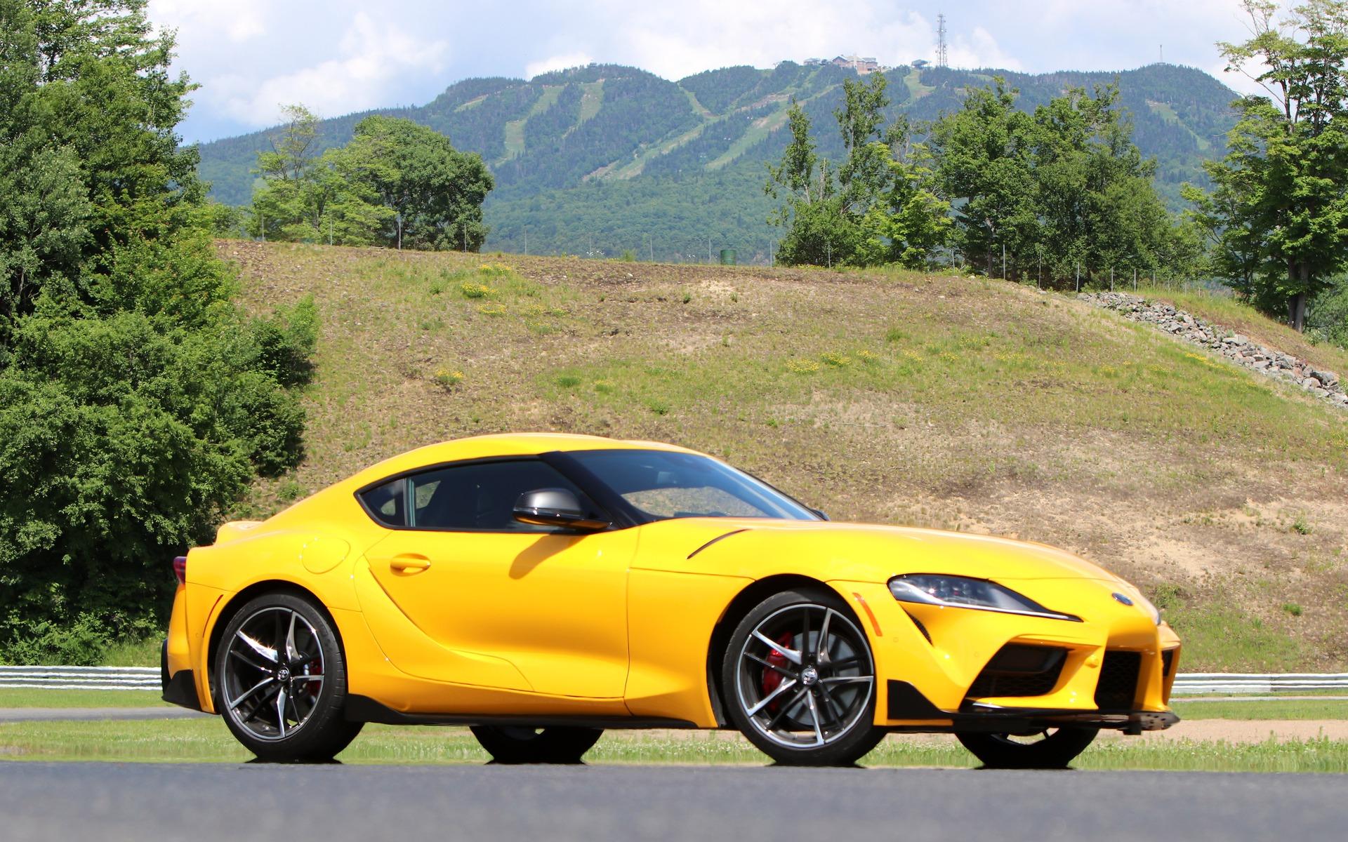 Yellow Toyota GR Supra