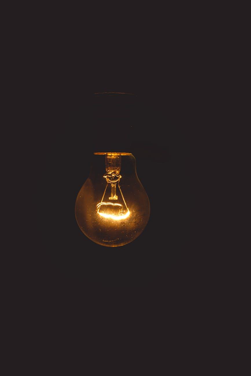Light Bulb Black Wallpaper