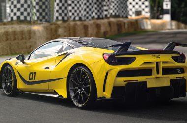 Yellow Ferrari Mansory