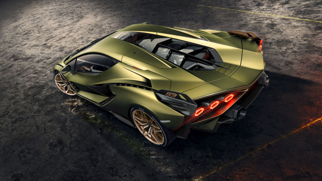 Green Lamborghini Sian Roadster