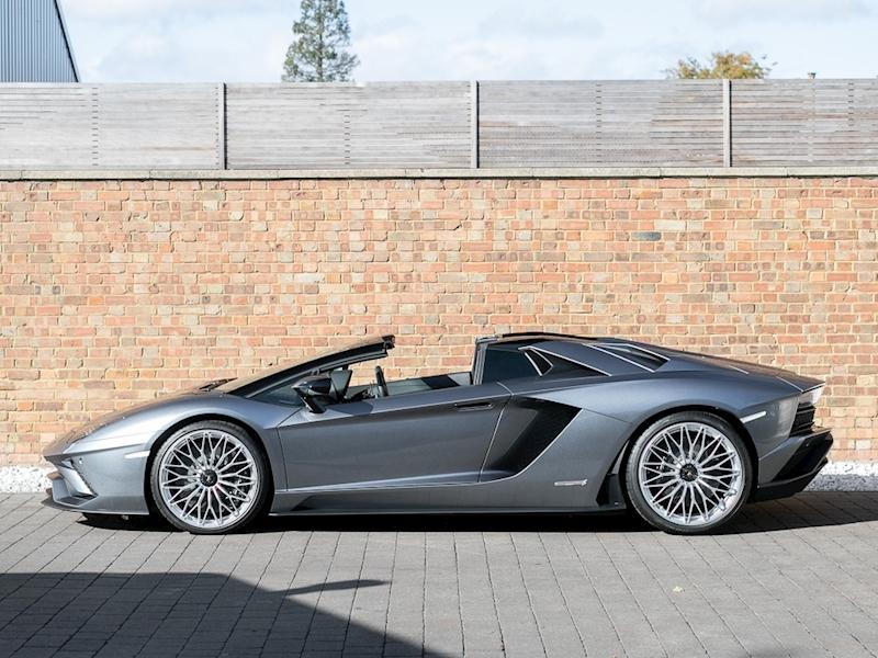 Grey Lamborghini Aventador