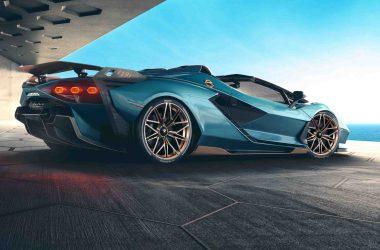 Top Lamborghini Sian Roadster Background