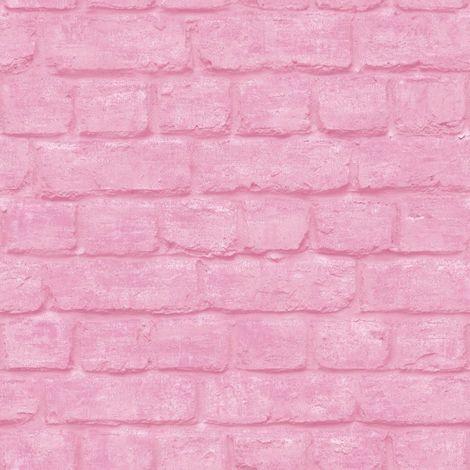 Brick Pink Wallpaper 30824
