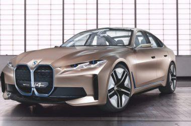 Golden BMW i4 Image