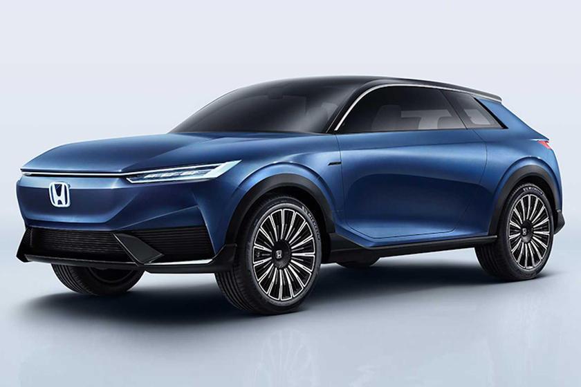 Blue Honda SUV Electric