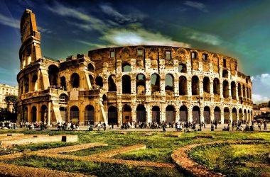 Landscape Colosseum Wallpaper