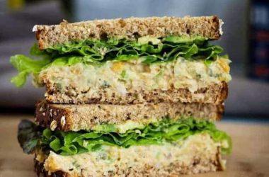 Easy Chickpea Veg Salad Sanwich