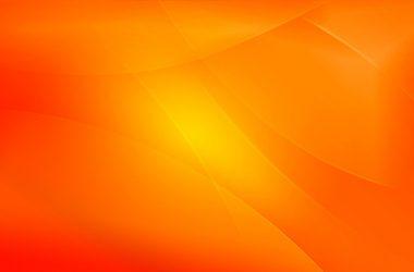 Floral Orange Wallpaper