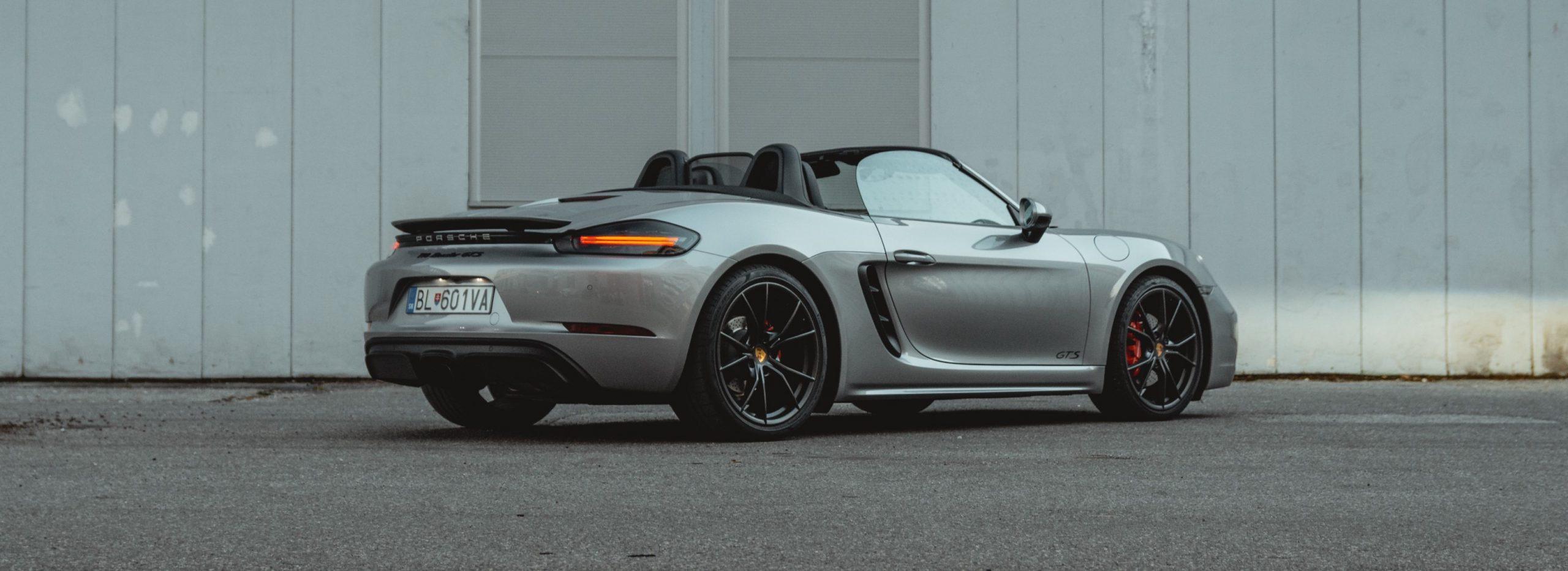 Grey Porsche 718 Boxster