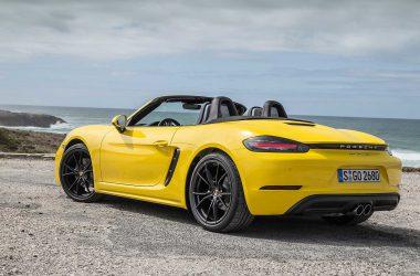 Yellow Porsche 718 Boxster
