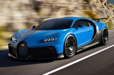 Blue Bugatti Chiron Pur Sport