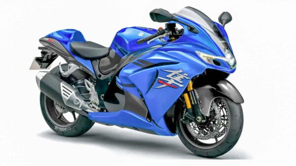 Blue Suzuki Hayabusa