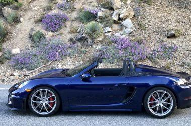 Blue Porsche 718 Spyder