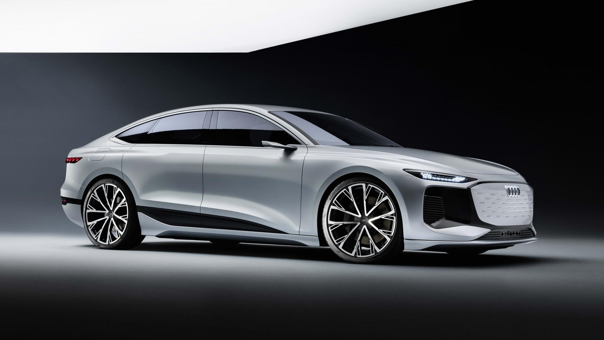 Grey Audi A6 e-tron