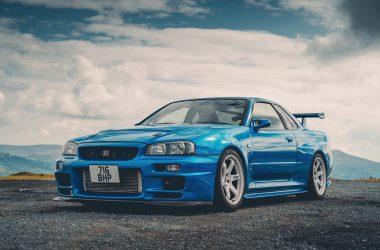 Blue Nissan Gtr 34