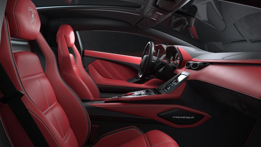 Red Lamborghini Countach Lpi