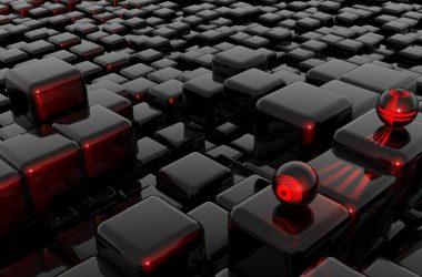 Black Cube 3D Wallpaper